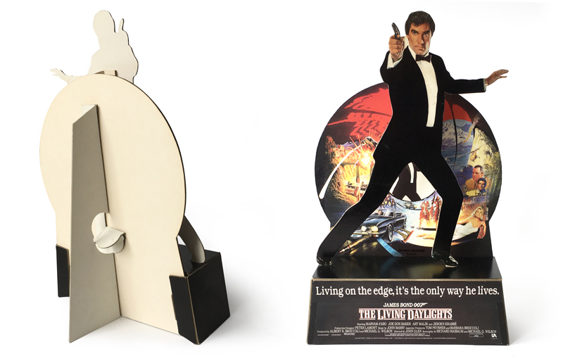 The Living Daylights Memorabilia Toys Promo Items Mesmerizing Cardboard Display Stands Uk