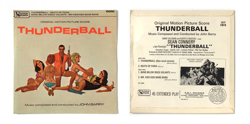 Thunderball memorabilia, toys, promo items - James Bond 007