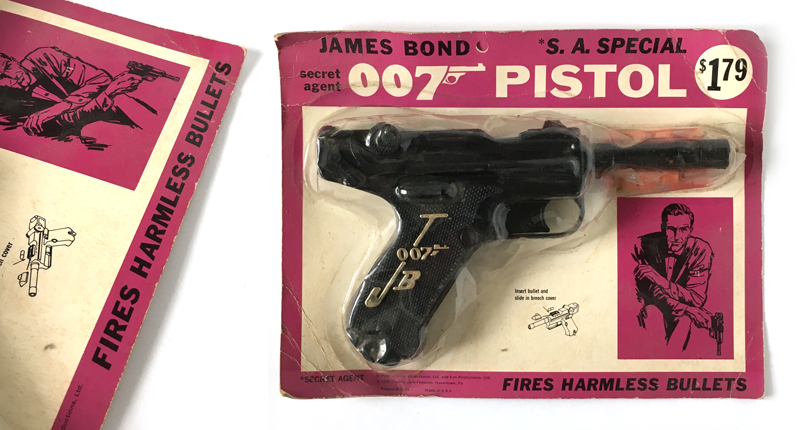 James Bond 007 toys guns, Lone Star, Coibel, Multiple Toys, Imperial
