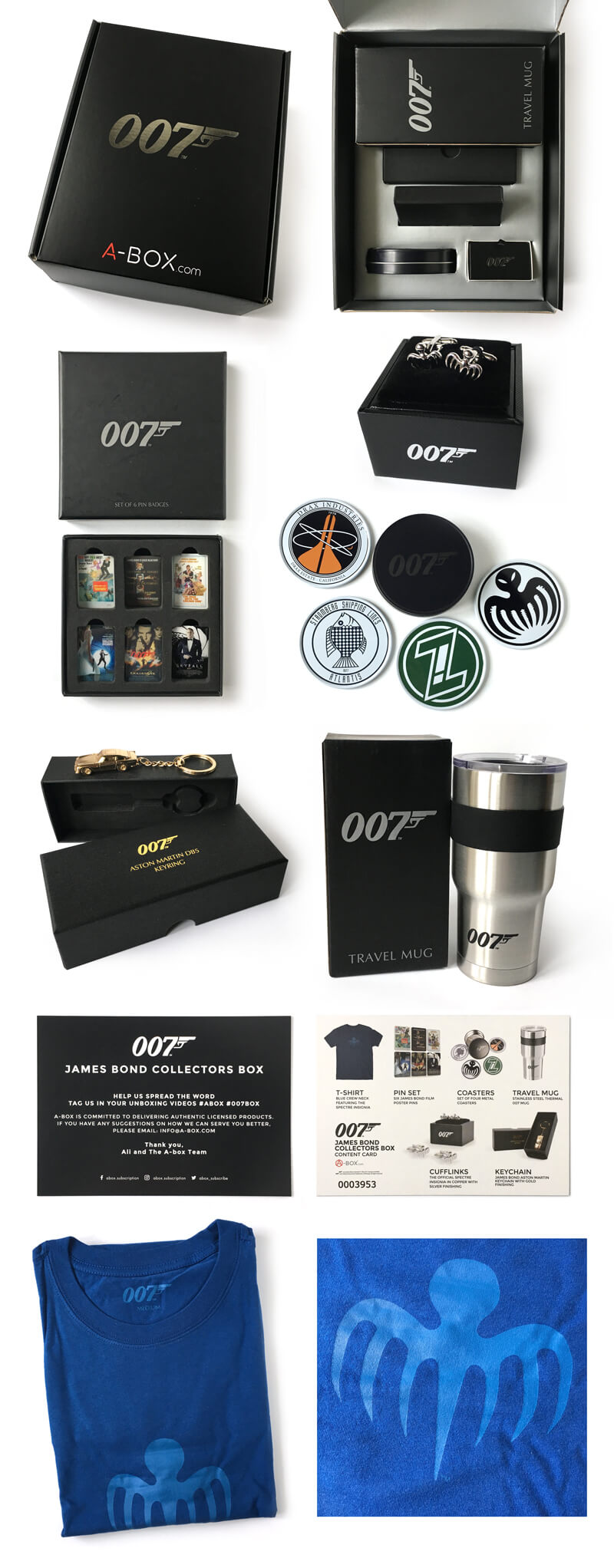 3f38e4ee2a4 James Bond 007 Collectors Box containing Spectre t-shirt