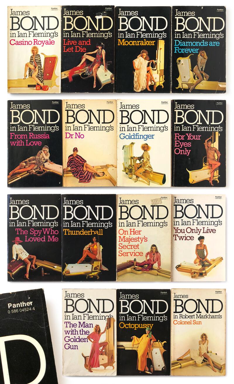 James Bond paperback books, Ian Fleming, Kingsley Amis, John Gardner
